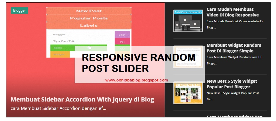 how to create responsive slider in html
