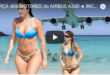 AIRBUS A340 ENGINE POWER-INCREDIBLE landings and takeoffs on the BEACH