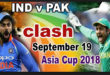 India vs Pakistan Asia Cup 2018 live cricket streaming
